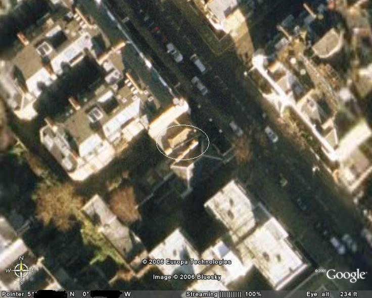 Bill's Antenna as seen by GoogleEarth
